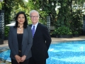 Dr Anita Krishnan with Dr Howard Levine